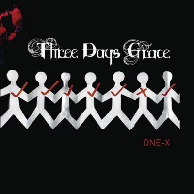 Three days grace one-x is danny's favorite album. | album cover.